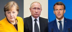 Merkel, Macron şi Putin în videoconferinţă!